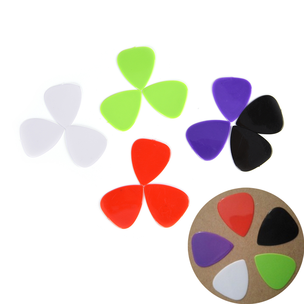 12pcs/lot Guitar Picks 0.73mm Acoustic Electric Bass Smooth Guitar Picks Plectrum Guitar Parts Accessories Clearance Price