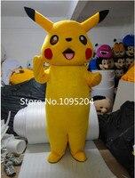 BING RUI CO Adult size New Pikachu mascot costume Pikachu Mascot Costume Adult Fancy Party Dress