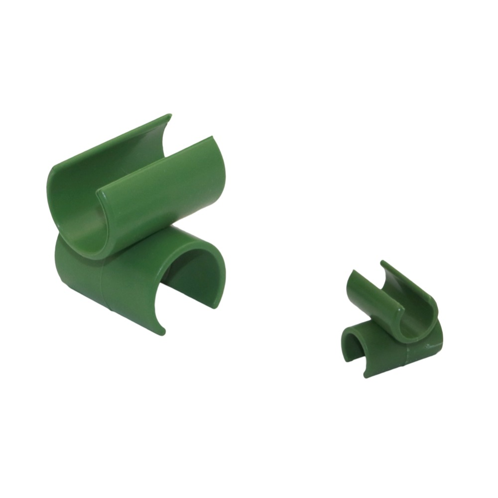 Cross Plastic Gardening Pillar Greenhouse Tray Bracket Fixed Clamp Garden Hose Pipe Clap Agriculture Plant Support 5 Pcs