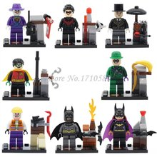 Super Heroes Figures Batman Wolverine Flash Green Lantern Robin Ultron Marvel Legoingly Building Blocks Bricks Toys