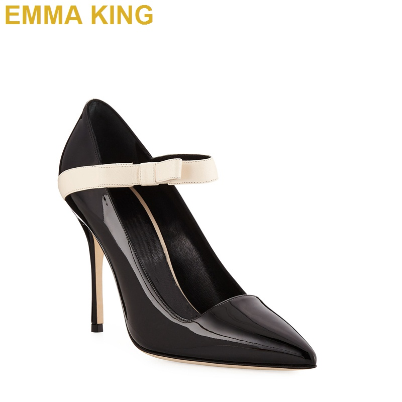 Elastic Band Ladies Stiletto Pumps Black Patent Leather Women Pointed Toe High Heels Shoes 10CM 12CM Office Lady Commuting HeelsElastic Band Ladies Stiletto Pumps Black Patent Leather Women Pointed Toe High Heels Shoes 10CM 12CM Office Lady Commuting Heels