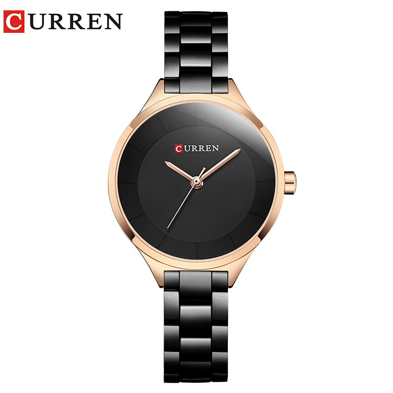 CURREN New Simple Women Bracelet Wrist Watches Light Extravagant Girls Fashion Geneva Quartz Clock Female Luxury Wristwatch 2017