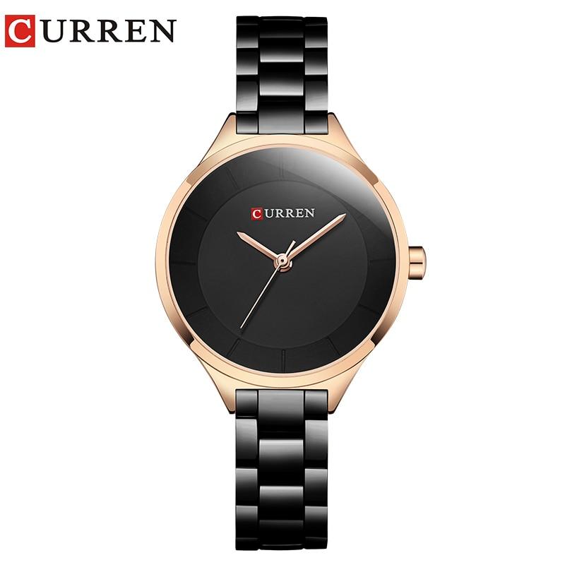 CURREN New Simple Women Bracelet Wrist Watches Light Extravagant Girls Fashion Geneva Quartz Clock Female Luxury Wristwatch 2017