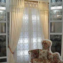 Modern solid splice silver curtain for living room luxury checks white tulle curtain for bedroom voile window treatments M-179