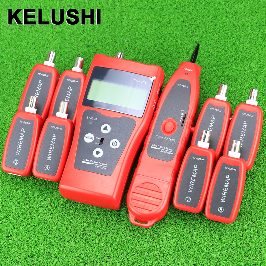 KELUSHI Multi-functional Handheld Cable Tester Network cable LAN Ethernet Wire tester Telephone cable RJ45 RJ11 Tester NF388