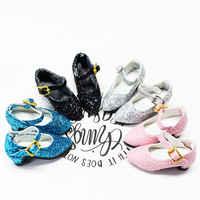 Glück Tage 1/6 bjd puppe DBS Schuhe Neue shiny high heels vier farben wilde für 30cm Neo DBS puppe geschenk spielzeug