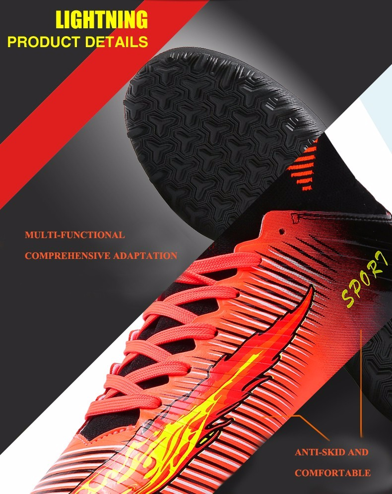 2017 High Quality Cheap Indoor Soccer Shoes Cleats High Ankle Kids Football Boots Superfly Original Boys Girls Sneakers6