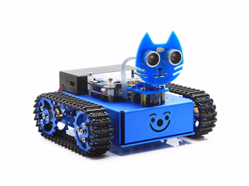 KitiBot-MG-T (EN) Starter Robot Building Kit with Mega2560 Controller Board for Kids Graphical Programming Tracked Version