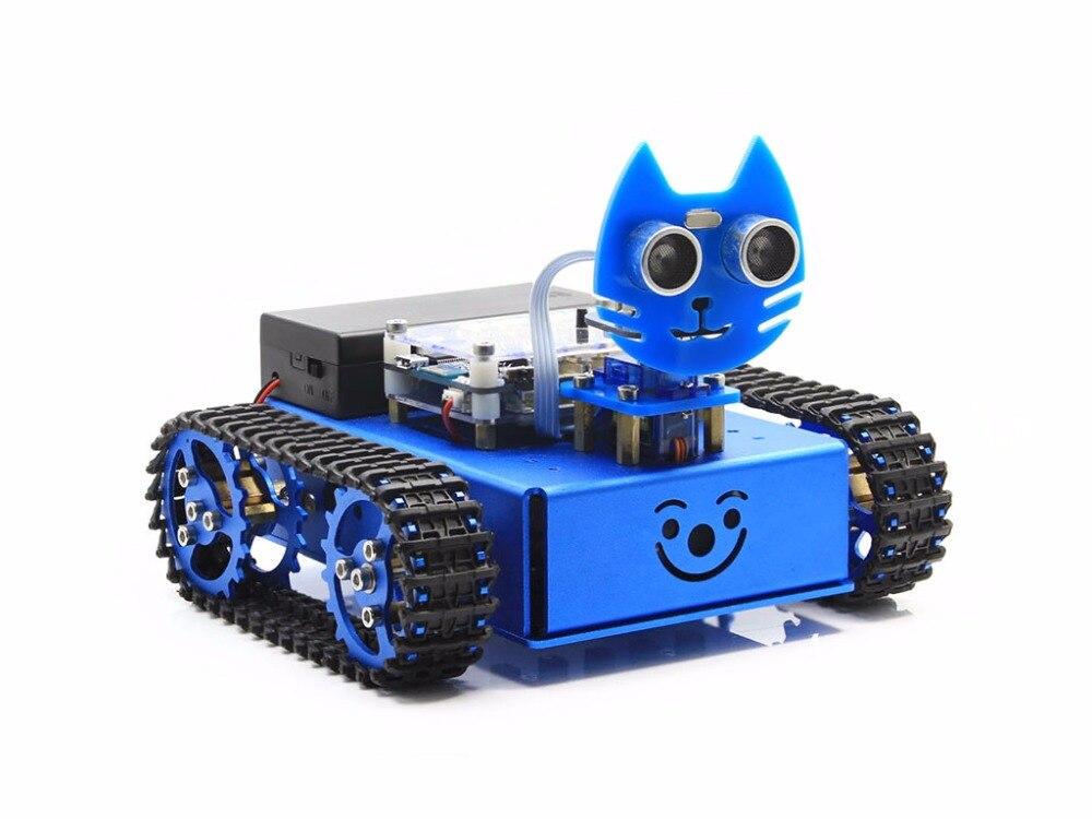 Kitibot-MG-T (EN) Стартер Робот строительные Kit с Mega2560 плате контроллера для детей Графический программирования отслежены версия