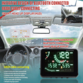 Car HUD Head Up Digital LCD Display OBD II Interface Voice / Speed / Engine Temperature / Battery Voltage / Clock Geyiren W03