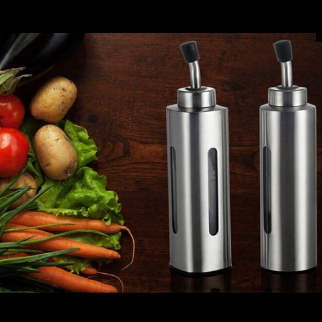 Ezüst rozsdamentes acél olívapumpa permetező olaj palack - Konyha, étkező és bár