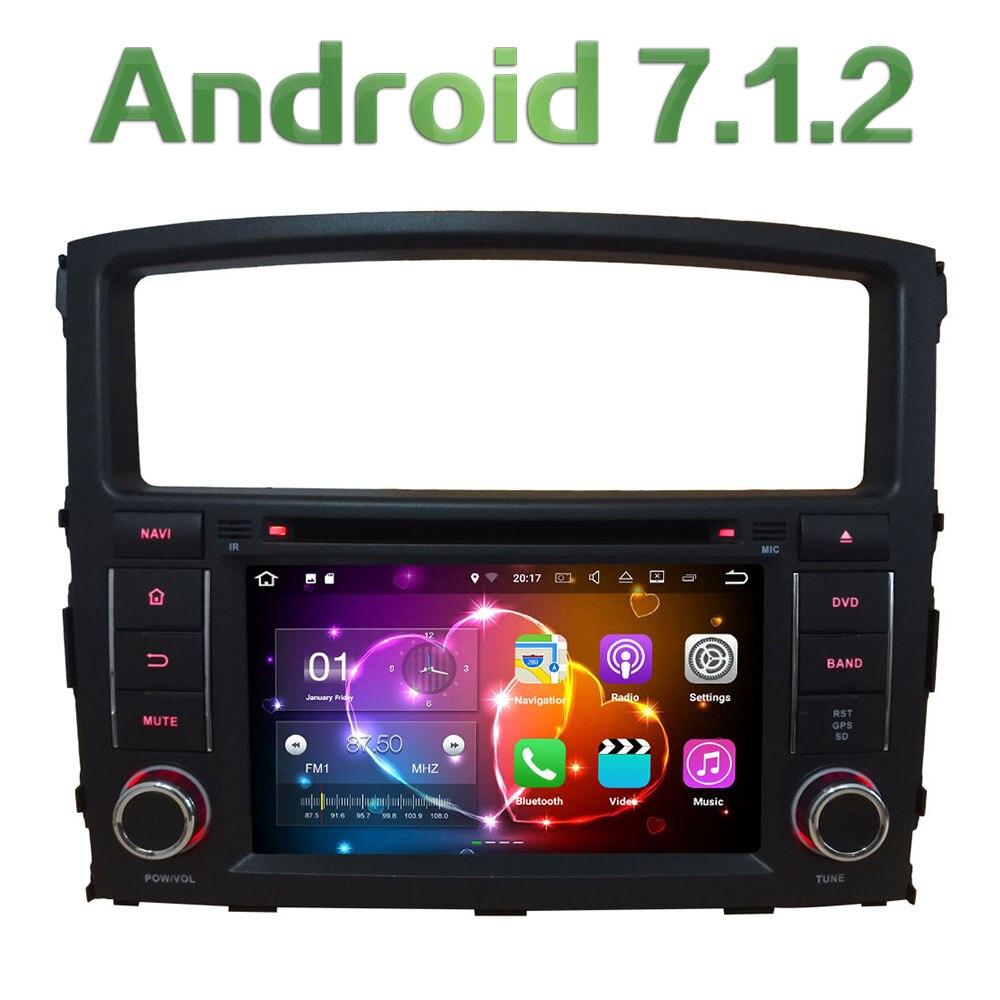 7 ''Android 7.1 Quad Core 2 gb RAM 3g/4g Wifi DAB CFC Voiture DVD Lecteur radio GPS Navi Stéréo Pour Mitsubishi Pajero V97 V93 2006-16