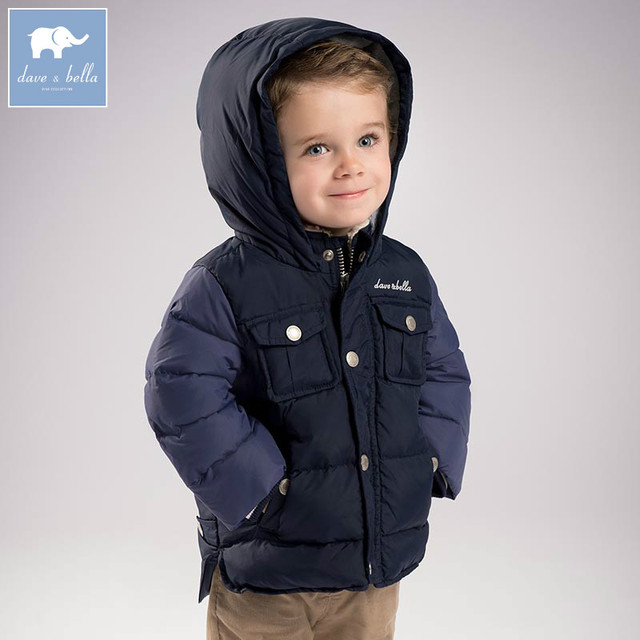11ce0d6f7a04c DB6322 dave bella winter baby boys navy down jacket children white duck  down padded coat kids hooded outerwear