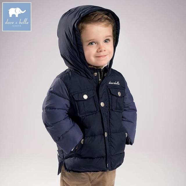 868570fef DB6322 dave bella winter baby boys navy down jacket children white ...