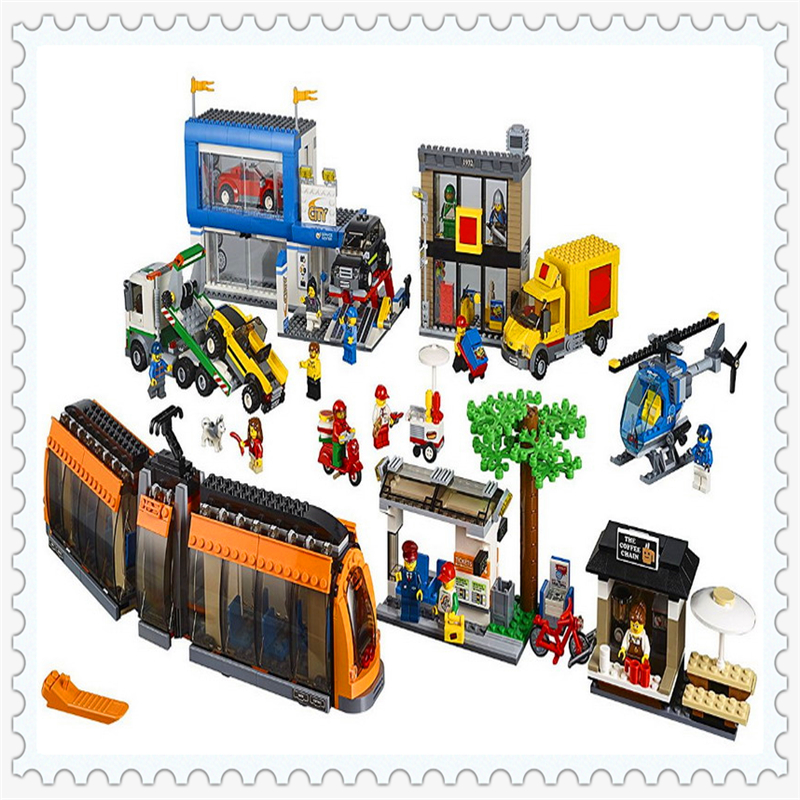 LEPIN 02038 City Town City Square Model Building Block Compatible Legoe 1767Pcs    Toys For Children lepin 02038 1767pcs geuine city series city square model building blocks bricks educational toys for children 42070