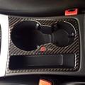 Carbon Fiber Cup Holder Trim Decorative Decal Frame Sticker Cover for Audi A4 B8 2009-2015 A5 Sline Logo Car Styling
