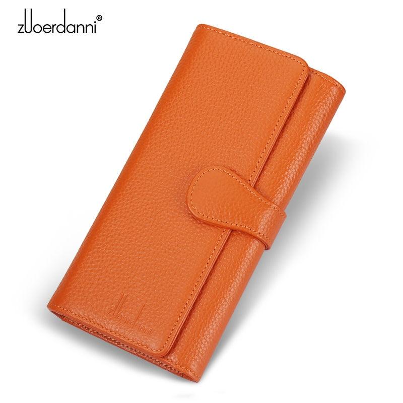 Купить с кэшбэком Zuoerdanni  New Hot Sale Wallet Women's Wallet Genuine Solid Leather Wallet Fashion Women Gift for Women High Quality A183