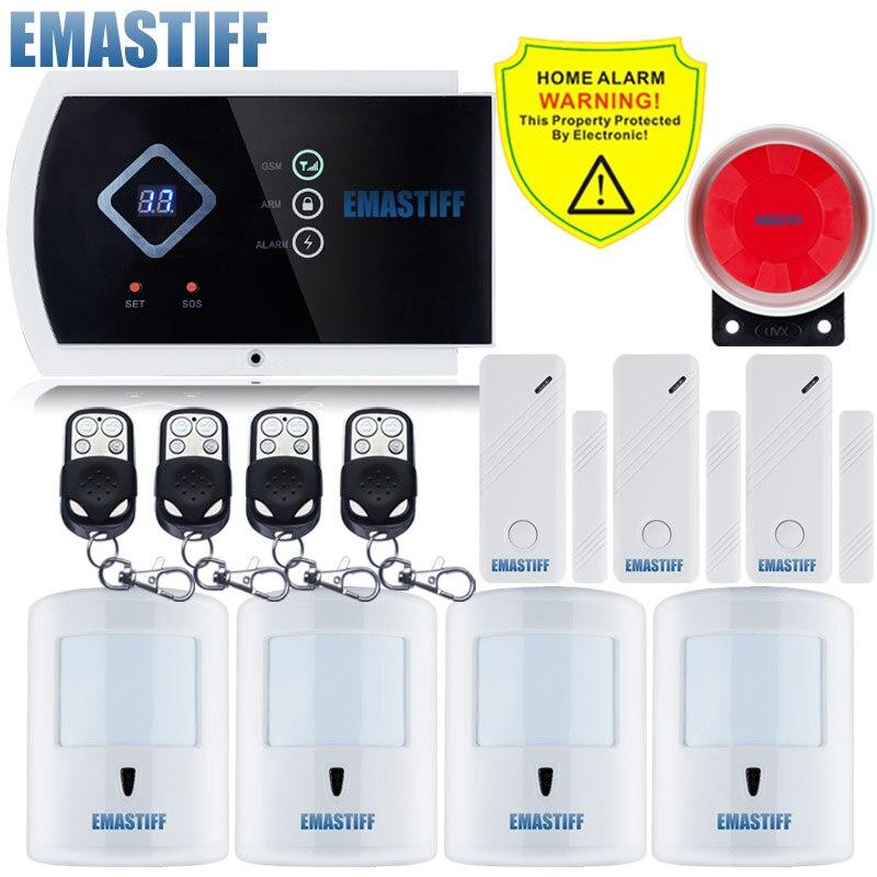 Livraison gratuite! G10A LED affichage nouveau Pet immunitaire PIR capteur support Android APP 99 + 2 zone sans fil GSM système d'alarme de sécurité à domicile
