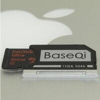 BaseQi Aluminum Mini Drive Micro SD Card Adapter For Macbook Pro Retina 13 MacBook AIR 13