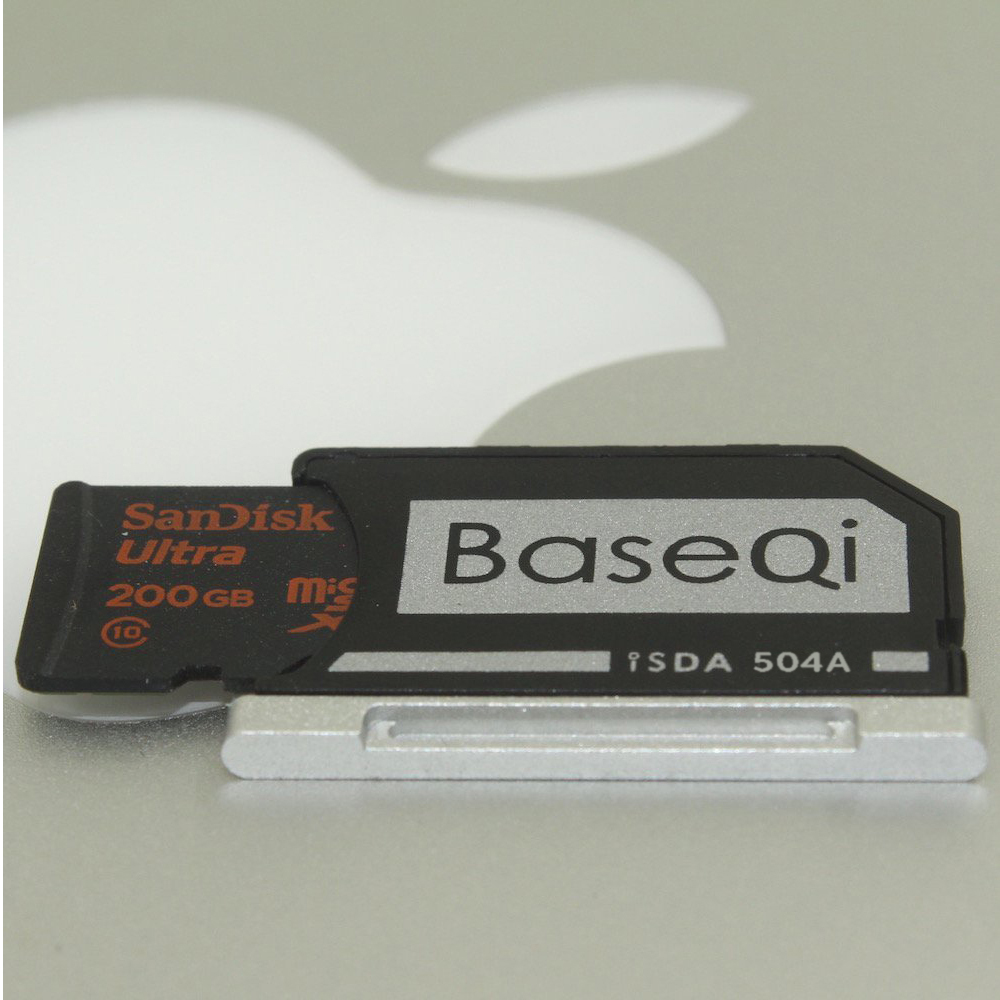 BaseQi Aluminum Mini Drive Micro SD Card Adapter For Macbook Pro Retina 13'' /MacBook AIR 13/Macbook  PRO  RETINA 15 45w car charger magsafe 2 power adapter for apple macbook air retina 11 13