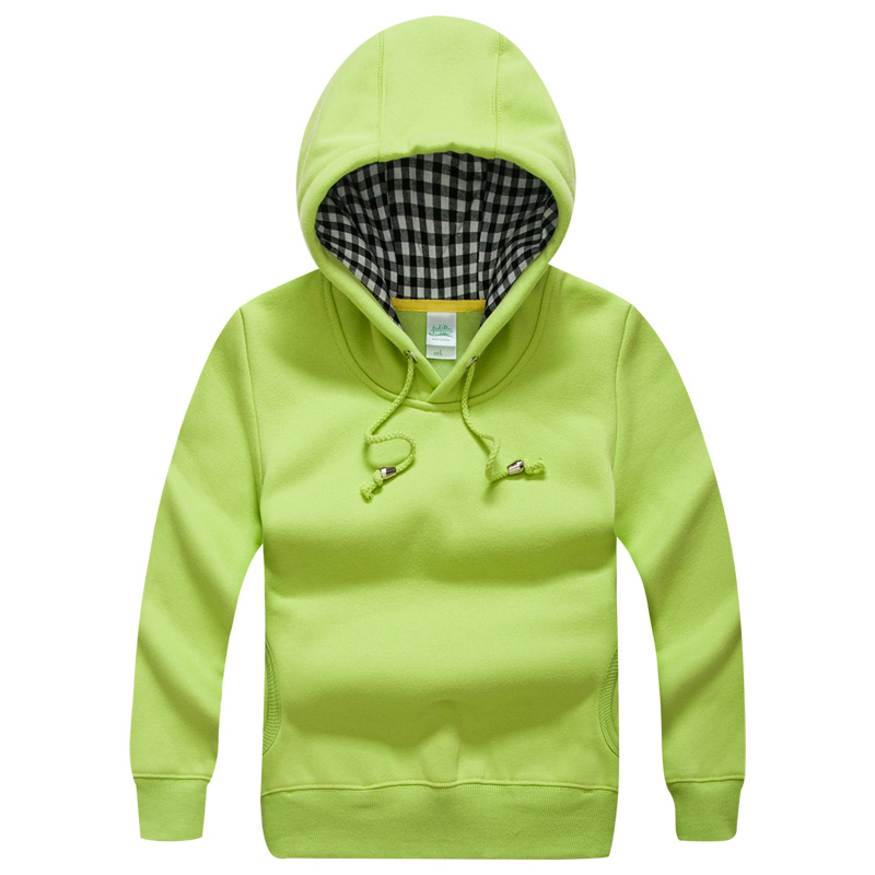 Unisex Plain Basic Kids Hoodies Warm Green Casual Boys Girls Hooded Coat 2017 Kids Clothes for 2 3 4 6 8 10 Years Old AKH165007
