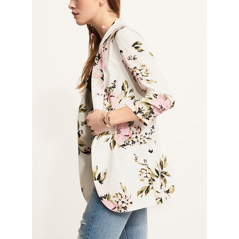 Fashion Floral Print Women Jackets Coat 2019 Spring Autumn Female Long Sleeve Outwear Jacket Ladies Tops Macacao Feminina