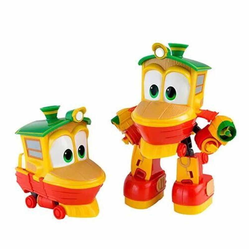 Boneco robô kay alf de 4, pçs/set, 8cm, transformação, trem dinâmico, família, deformação, comboio, carro, figura de ação, brinquedos boneca de brinquedo,