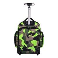 LeTrend камуфляж рюкзак водонепроницаемый Дорожная сумка Для женщин большая емкость Rolling Чемодан чемоданы кабина колеса сумки на плечо