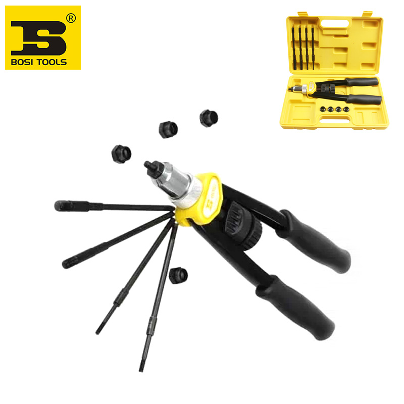 BOSI Manual Heavy Duty Rivet Nut Tool Nut/thread Hand Riveter Blind Rivet Kit M5,M6,M8,M10,M12