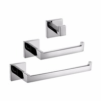 Stainless Steel Contemporary Bathroom Hardware Set Robe Hooks Towel Bar Wall Mounted Bathroom Accessories For Bath Or Kitchen