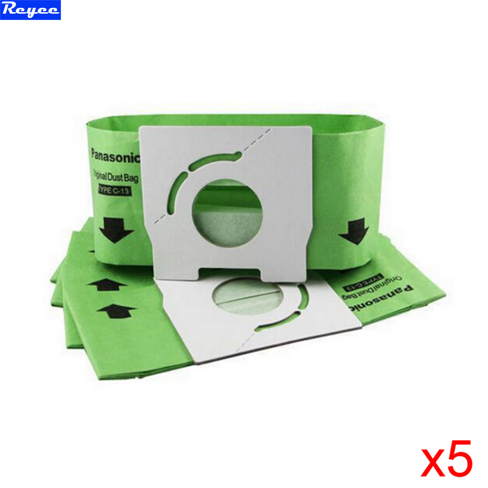 Фотография free post new 5 pieces / lot vacuum cleaner bags dust bag c-13 paper bags replacement for panasonic mc-ca291 mc-ca391 mc-ca301