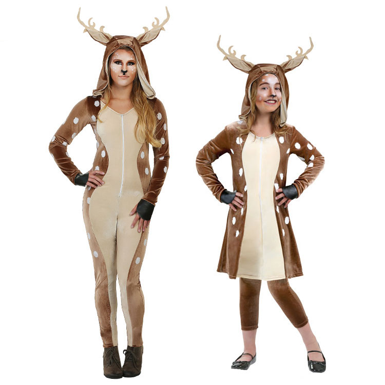 New IREK New Cosplay Party costume adult children Halloween classic deer costumes for women and girls
