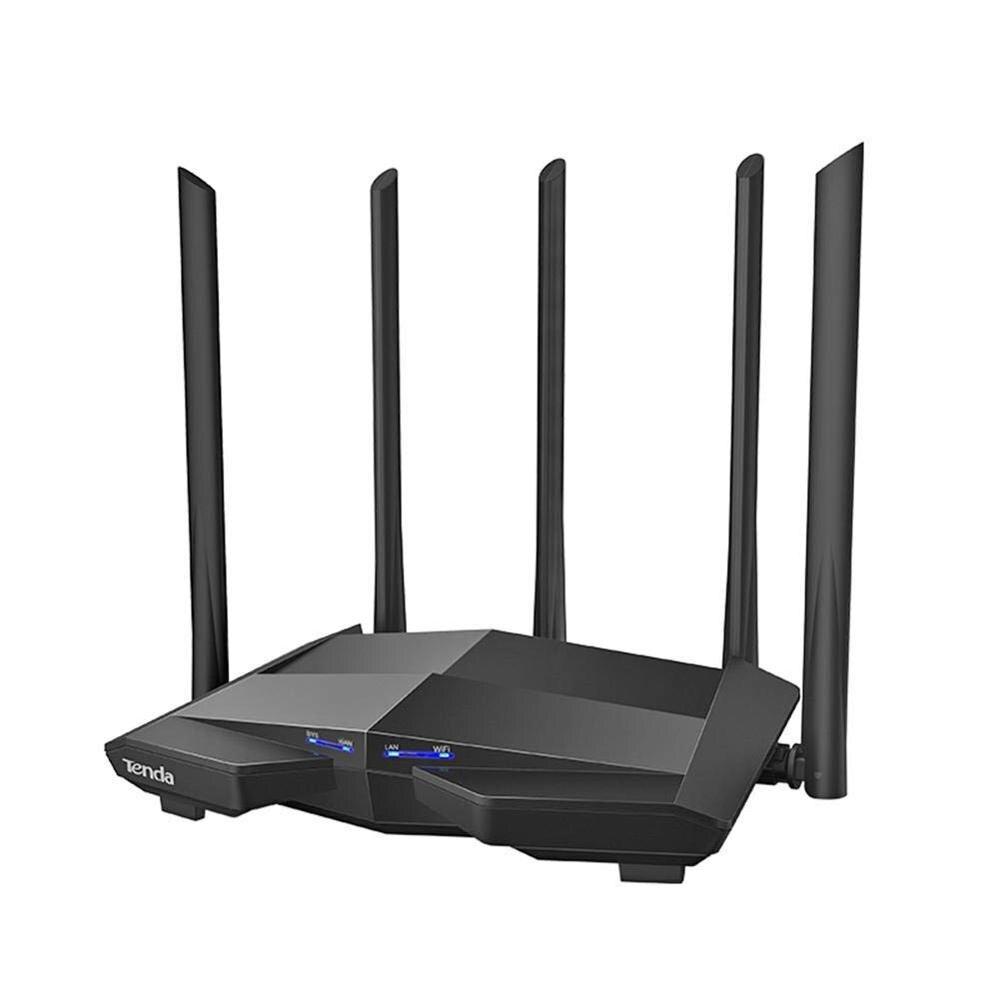 Flambant neuf Tenda AC11 Gigabit routeur sans fil Double-Bande AC1200 répéteur wi-fi avec 5 * 6dBi Haute Antennes Une Couverture Plus Large Facile configuration
