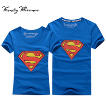 2017 Hot Sale Superman T Shirt Women And Men Lovers Clothes Casual O Neck Short Sleeve T-shirts For Couples