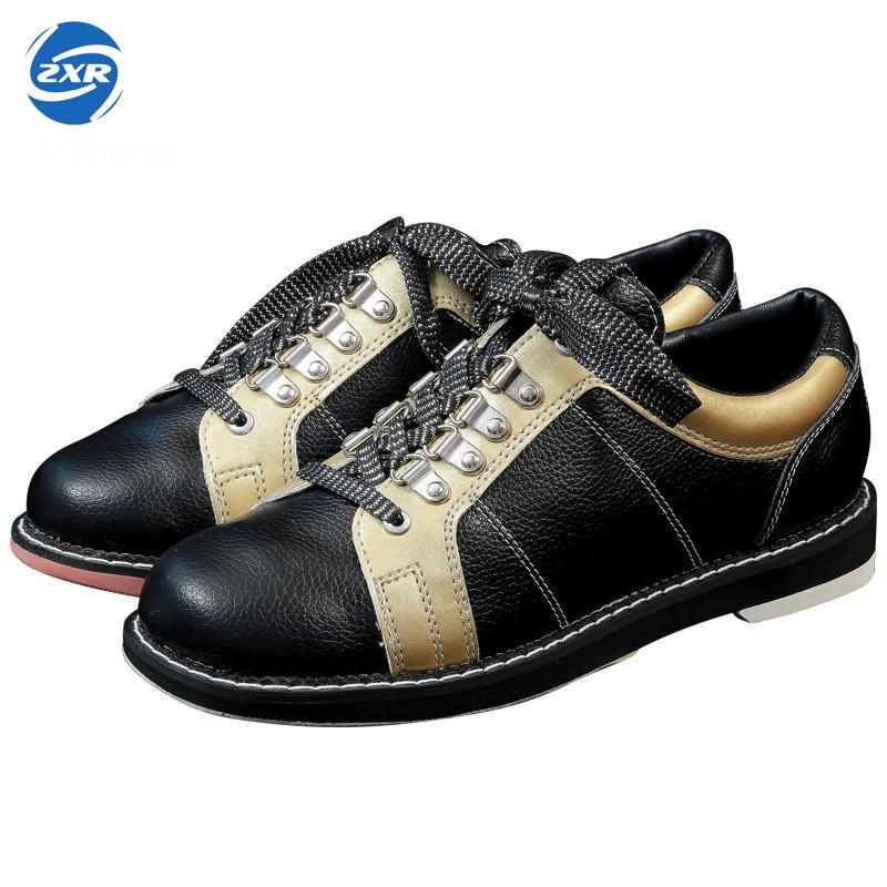 Full Leather Men Bowling Shoes Private men Skidproof Sole Professional Sports Bowling Shoes slip sneakers