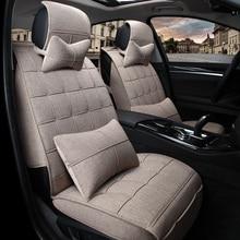 car seat covers for k2 new sylphy cs35 xt citroen c4/c4l ix35/45/25 peugeot 208 four season general all-inclusive linen cushion