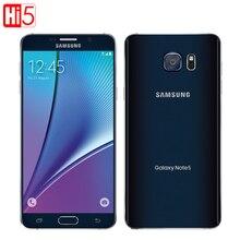 Разблокирована Samsung Galaxy Note 5 Octa Core телефон одной сим 16MP 5.7 дюймов 4 ГБ оперативной памяти 32 ГБ ROM NFC отпечатков пальцев сердечного ритма смартфон