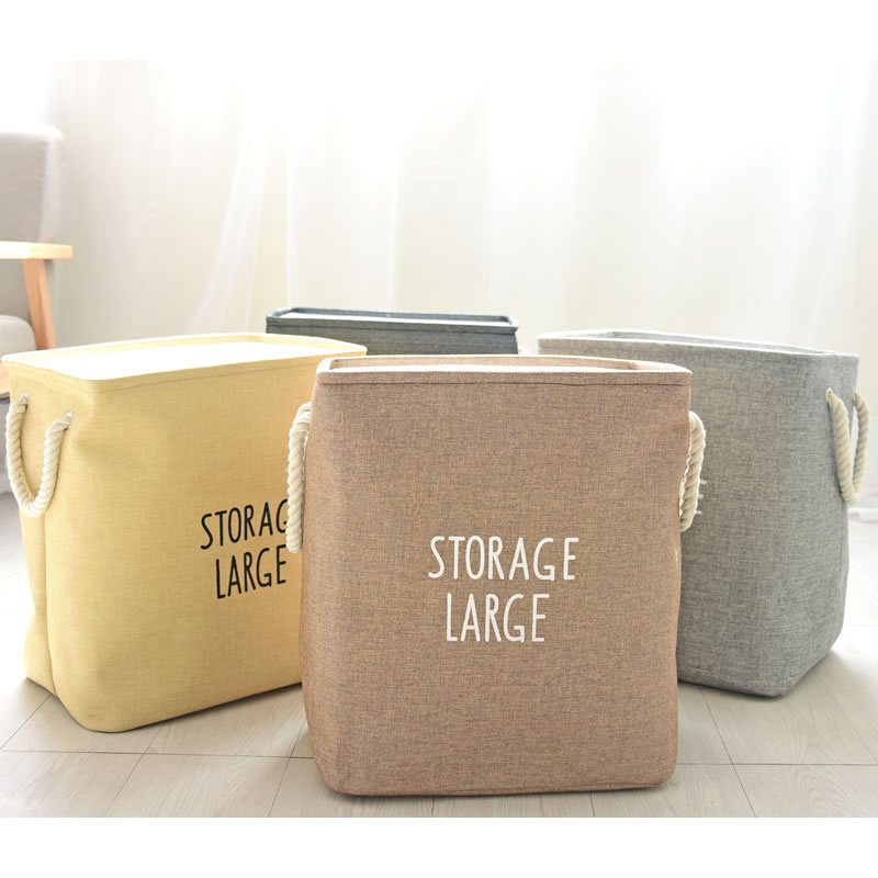 <font><b>Storage</b></font> Large Cotton Line opening Laundry Barrels thickening lining eva Square <font><b>Storage</b></font> <font><b>Basket</b></font>