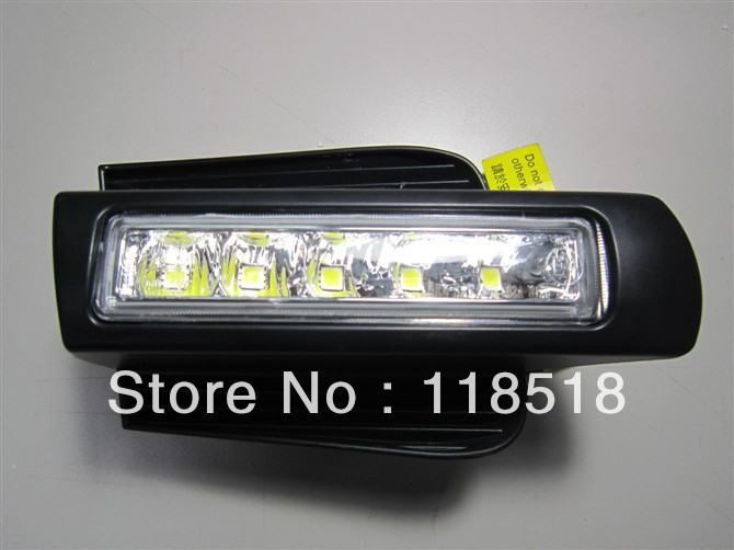 Free shipping by EMS, for CAR-Specific Toyota Prado 2003 - 2009 LED DRL,Daytime Running Light for prado FJ120 LC120  led drl for toyota land cruiser prado 120 lc120 fj120 2003 2009 daytime running lights with light off function