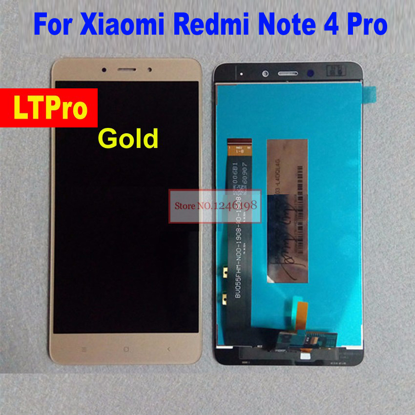 Best Working LCD Touch Screen digitizer assembly for Xiaomi Redmi Note 4 Pro Prime MTK Helio X20 Mobile Display Replacement