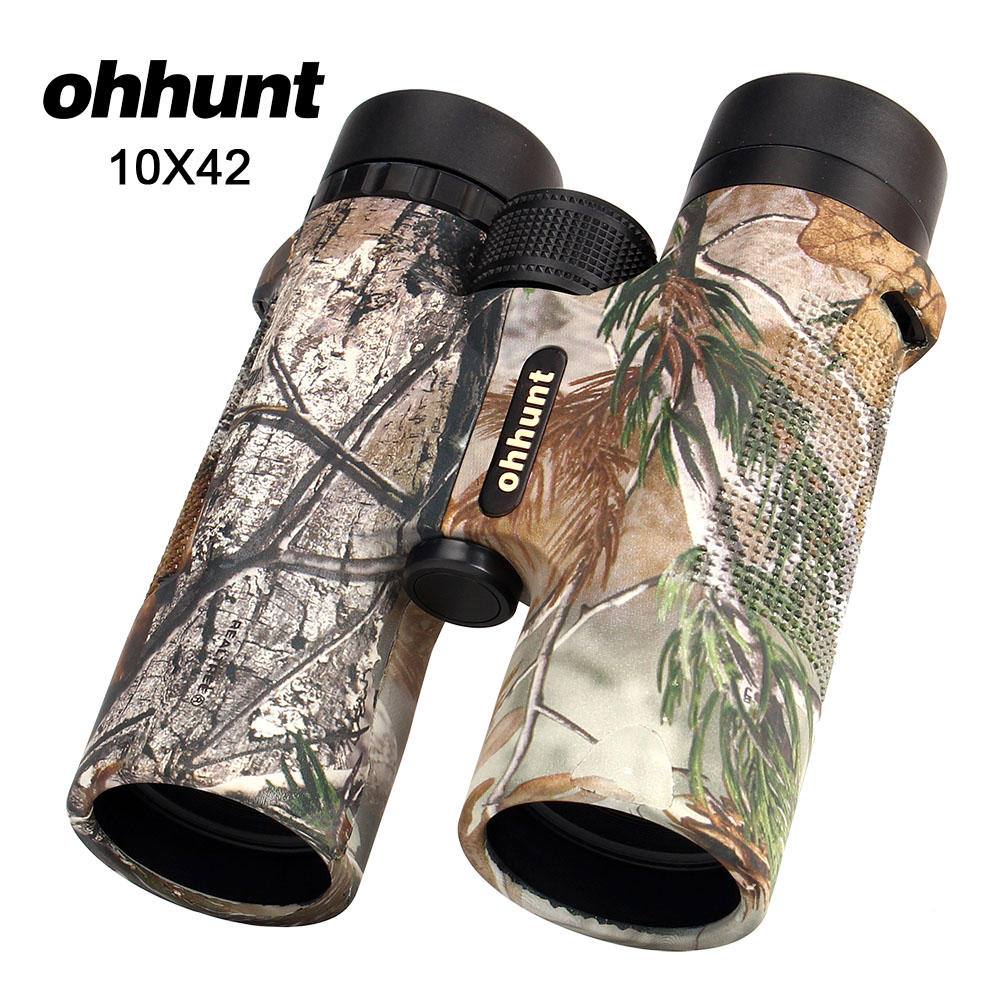 ohhunt 10X42 Binocular Hunting Scope Waterproof Telescope Camouflage High Power Army HD Wide Angle Binoculars цена