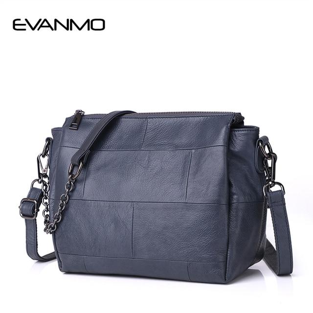 Genuine Leather Messenger Bag Women's Shoulder Bag Interior Compartment  Women Leather Crossbody Bags Soft Leather Shoulder Bag
