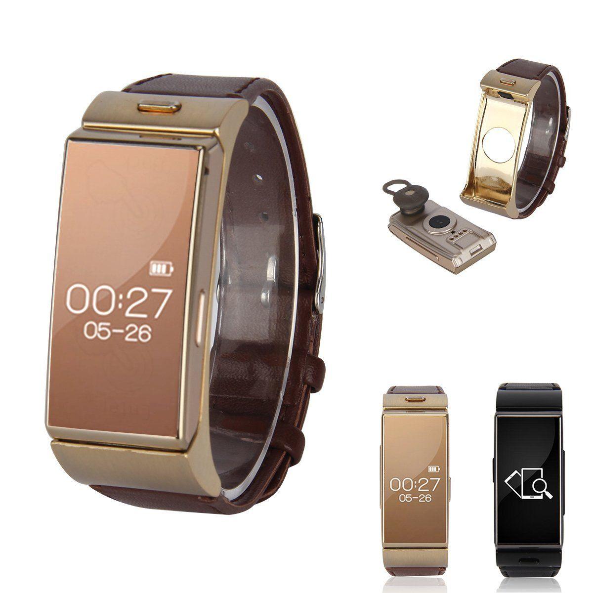 ФОТО New Vogue Bluetooth 4.0 Headset Earphone Heart Rate Sports Smart Wristband Watch Bracelet
