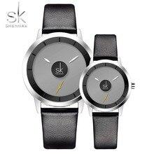 New Relogio Couples Watch Leather Quartz Watch