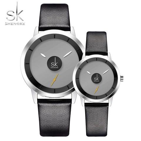 Relógio de Couro Relógio de Quartzo Relógios dos Homens do Esporte da Forma dos Homens Relógios para Mulheres Novo Relógio Casais Senhoras Presentes sk