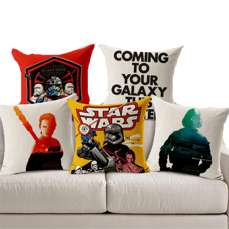Square 18 Cushion Cover Chair Sofa Pillow Case Creative Handsome Seat Cushion Pillow Cover Star Wars Customized Drop Shipping