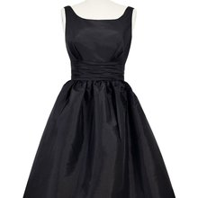 40e645ae74 Women s Knee-length Satin Frock Scooped Back Swingy Black Dresses Ladies  prom party Dress(