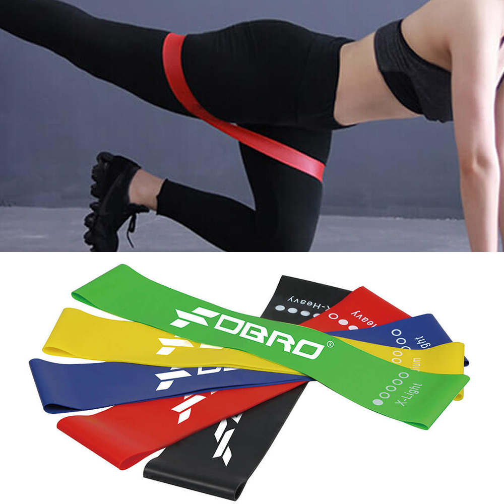 FDBRO Resistance Bands Rubber Bands Loop Yoga Pilates Sport Gym Strength Training Workout Latex Elastic Bands Fitness Equipment