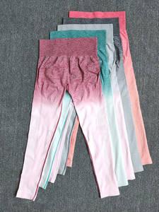 Leggings Gym-Set Fitness Sportswear Women Sports-Suit Seamless Workout Ombre 10pcs/Lot