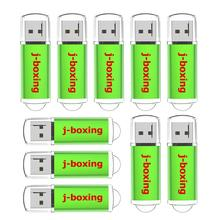 J-boxing 10PCS 256MB USB Flash Drive Pack 64MB 128MB 512MB Small Cacapity Storage Thumb Jump Pen Green